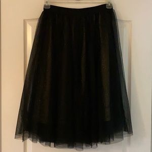 Black Tulle Skirt With Gold Glitter Under Layer✨